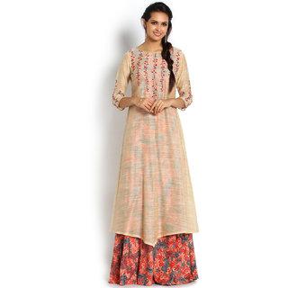 Soch Multicolor Printed Chanderi Stitched Kurti