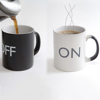 Magic On/Off Mug - White With Free Micro Cleaning Fiber Worth Of 245