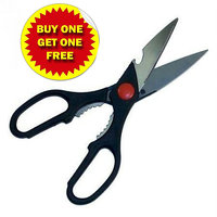 3 In 1 Steel Scissors With Bottle Opener Kitchen Buy One Get One Free