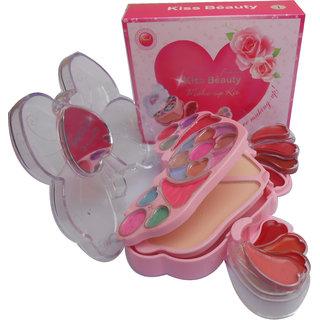 Kiss Beauty Makeup Kit With Eyeshadow Blusher Powder Lipgloss ETC 8795