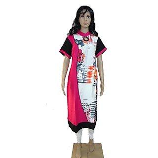 Viukart Regular Wear Multicolor Long Kurti