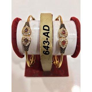 Designer Gold Plated Brass Bangles for Women
