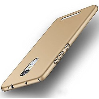 iPAKY Sleek Rubberisedgolden Hard Case Back Cover For NOTE 4