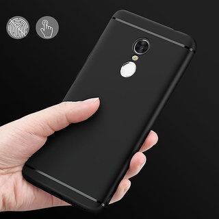 Rubberised Slim Soft Silicone Back Cover For NOTE 4 Black