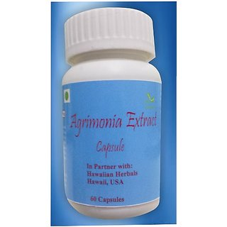 Hawaiian Herbal, Hawaii,USA - AGRIMONIA EXTRACT CAPSULES - 60 Capsules (Buy any Healthcare Supplement  Get the Same Drops Free)