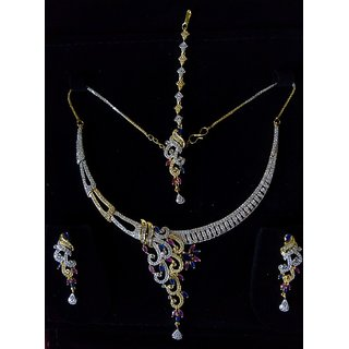 Buy American Diamond Necklace Set Online 2800 From Shopclues