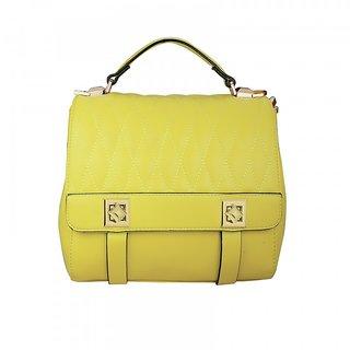 Girls Yellow Rexine Bag d0b9b0ad097d1