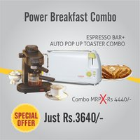 Combo Of Espresso Coffee Maker + Auto Pop Up Toaster - By Clearline