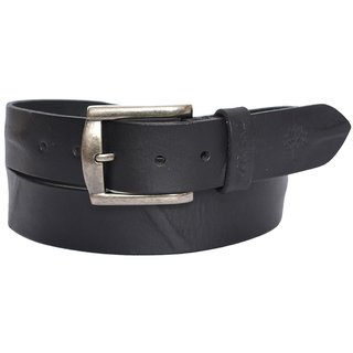 Tahiro Black Leather Belt - Pack Of 1
