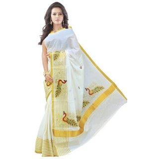 Cotton Sarees Womens Multi colour