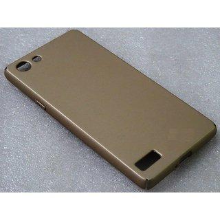 Oppo Neo 7 Back Cover 360 DegreeSleek Rubberized Matte Hard Case Back Cover GOLD
