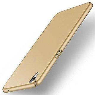Oppo F1 Plus 360 Degree Sleek Rubberised Hard Case Back Cover gold