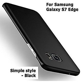 360 Degree Sleek Rubberised Hard Case Back Cover For Samsung Galaxy S7 Edge Black