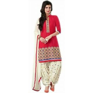 Womens Embroidered Un-stitched Salwar Suit
