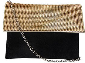 Bagizaa Salmon Velvet,Silk Sling Bag For Women With Zip Closure ,Adjustable Strap