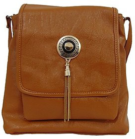 Bagizaa Womens Sling Bag (Brown,Mest5700)