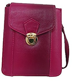 Bagizaa Pink PU Casual Womens And Girls Sling Bag