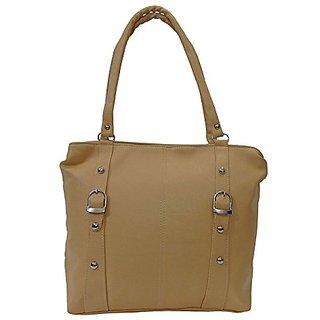 Bagizaa Casual Medium Beige Handbag