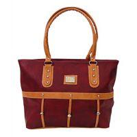 Bagizaa Maroon PU Handbag For Women With Zip Closure ,Fixed Strap