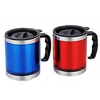 Insulated Travel Mug With Lid( Set Of Two With Different Color)