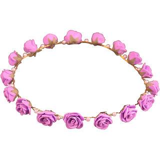 Style Tweak Purple Floral Pearl Tiara Princess Crown