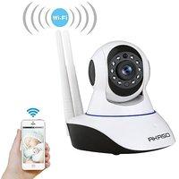 Tuzech Double Antenna Auto- Rotating Night Vision Mobile HD CCTV Wifi Camera