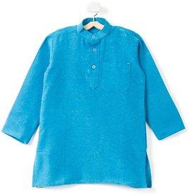 Pikaboo Plain Blue Kids kurta for Boys