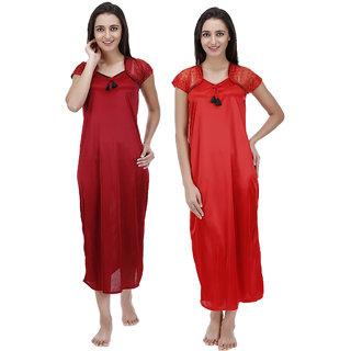 0adbd03d51 Buy MUASSA Premium Satin Nightwear Pack of 2 Online   ₹499 from ...