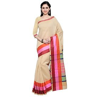 Vastrani Women's Cotton Multi Lining Party Wear Saree