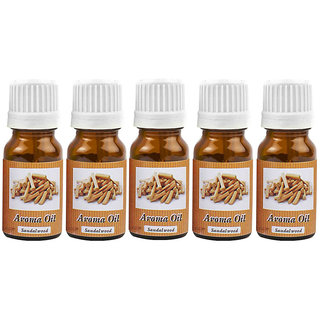 Luxantra Diffuser Aroma Oil Set of 5pcs of 10ml Each - Sandalwood