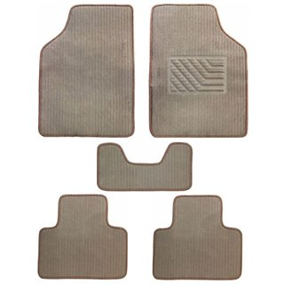 A2D Cushioned Exotic Carpet Car Floor / Foot Mats Beige Set of 5-Volkswagen Beetle