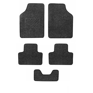 A2D Cushioned Exotic Carpet Car Floor / Foot Mats Black Set of 5-Ford Figo Aspire