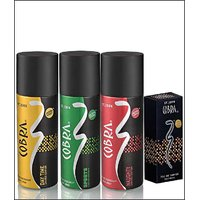 VI-JOHN Cobra Deo Sports & Naughty & Day Time + Cobra Perfume 30ml