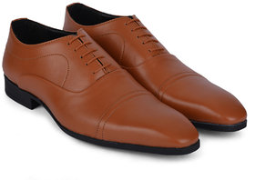 Ziraffe ELIXIR Genuine Leather Tan Men's Formal Shoes