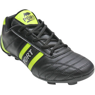 Port Mens Stud45 Black football Sports Shoes