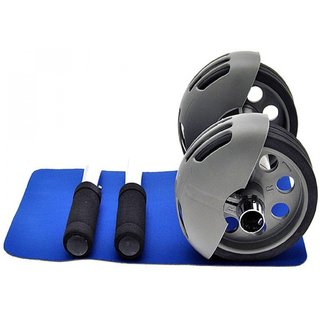 IBS Bodi Pro Roller Ab Wheel Strecher Device Abdominal Home Gym Woorkout Slider Strech Machine