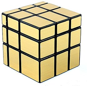 D-FantiX Shengshou Mirror Cube 3x3 Speed Unequal Cube Puzzles Golden Black