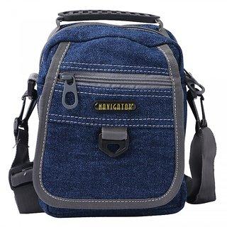 SureDeal Blue Color Sling Bag For Unisex