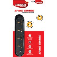 Eveready SG01 Black 4 Socket Surge Protector (2.5 Mtr Wire With 1 Year Warranty)