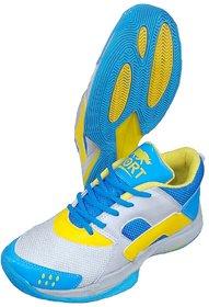 Port Men's Blue Cybertron Badminton Shoes