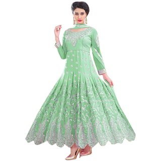 Florence Green Raja Tex Georgette Embroidered Suit(SB-2632) (Unstitched)