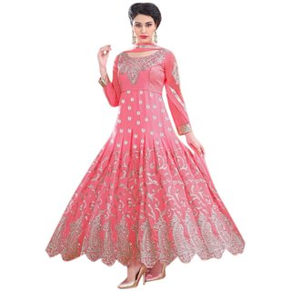 Florence Pink Raja Tex Georgette Embroidered Suit(SB-2633) (Unstitched)