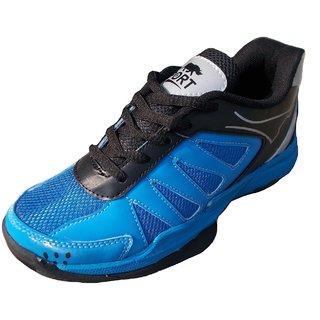 Port Men's Blue stride Badminton Shoes