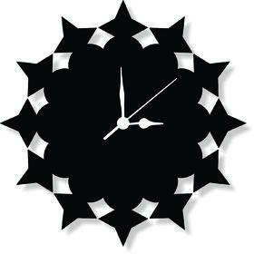 ENA DECOR WALL CLOCK CLOCK049 MDF WOODEN