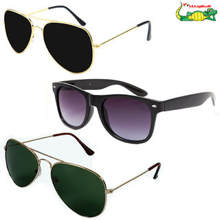 Elligator Multicolour Sunglasses Combo (Pack Of 3)