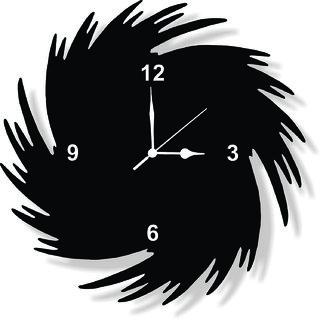 ENA DECOR WALL CLOCK CLOCK051 MDF WOODEN