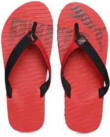 PUMA Unisex Red Black Miami Fashion II DP Flip-Flops