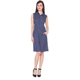 e8e8e8b21ffe Buy Vivaa Women Dots Printed Collared Sleeveless Jumpsuit Online ...