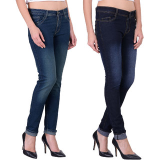 Balino London Multicolor Denim Jeans For Women (Set of 2)