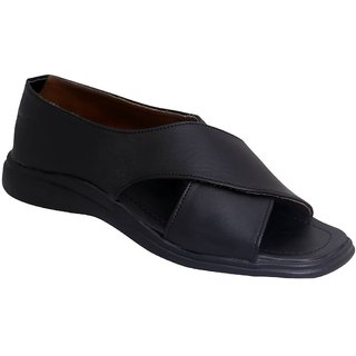 Shopolozy Black Comfy Sandals SN104-A45